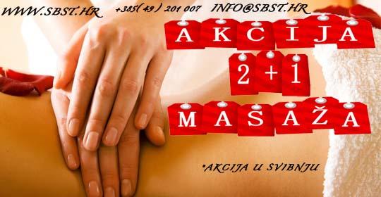 Akcija 2+1 masaža