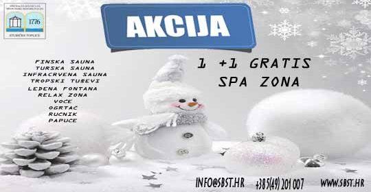 Akcija 1+1 gratis SPA zona
